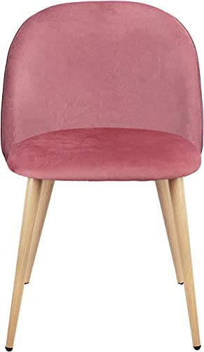 Set of 2 Dining Chairs Mid Century Modern Accent Velvet Leisure Chairs Upholstered Side Chairs
