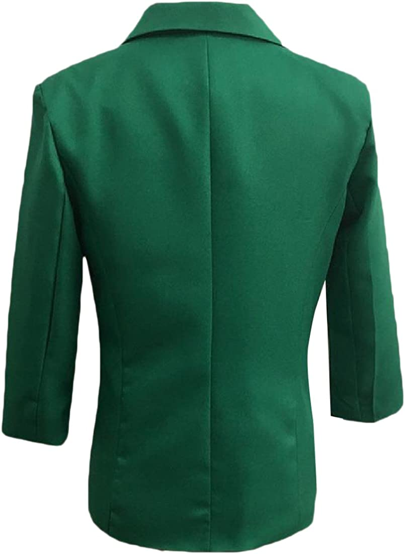 Zimaes Womens Solid-Colored Simple Long Sleeve Blazer Jacket Suits