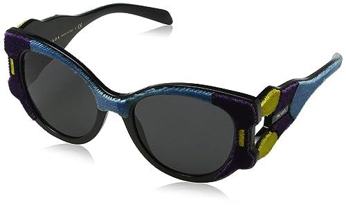 Prada 0PR10US N5B5S0, Gafas de Sol para Mujer, Amarillo (Violet/Yellow/Azure/Grey), 54
