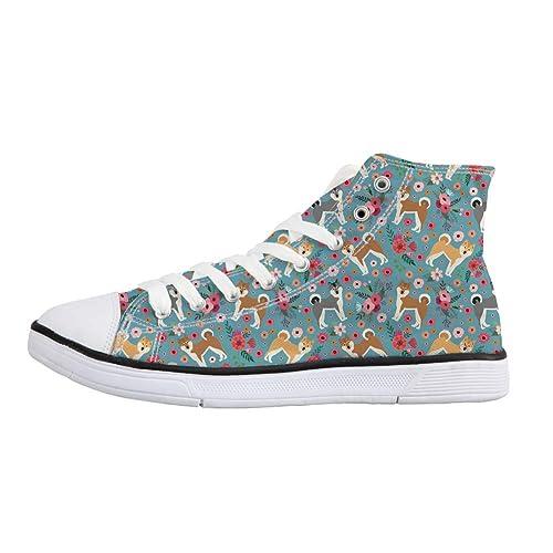 831fc8255cb83 Amazon.com | Coloranimal Women High Top Canvas Shoes Cute Cat Flats ...