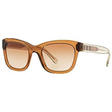 BURBERRY Unisex Sonnenbrille BE4209, Braun (Gestell: Braun, Gläser: Braun-Verlauf 356413), Medium (Herstellergröße: 52)