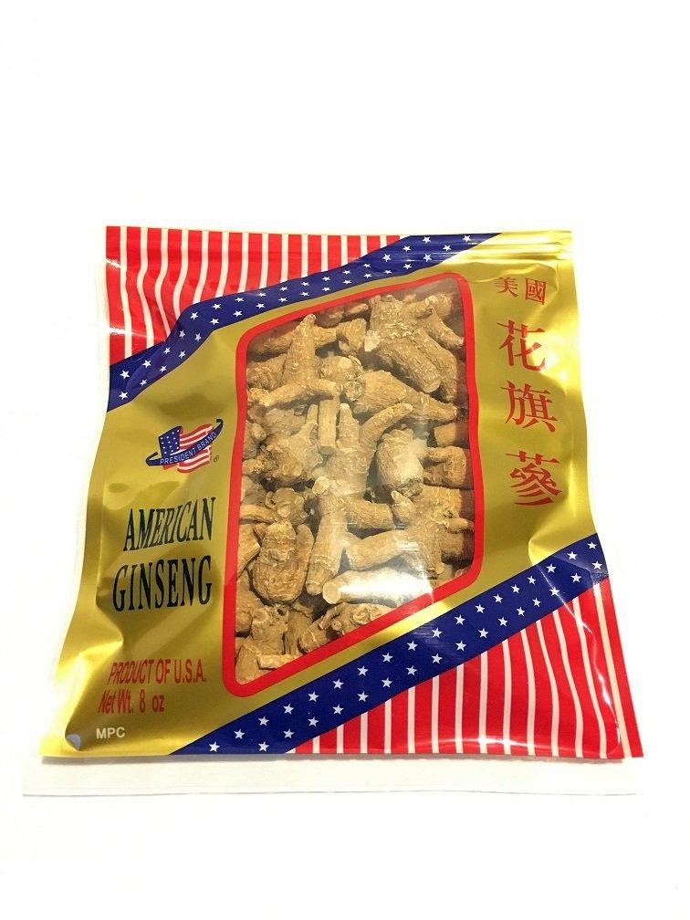 Premium American Ginseng - Medium Size Original Root Round (8 oz. Bag)