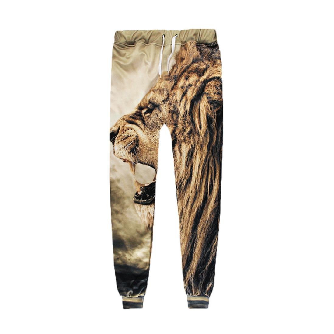 Allywit Men 3D Digital Print Jogger Pants Casual Sports Sweatpants with Pockets by Allywit (Image #3)