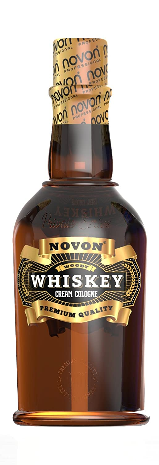 Novon - Whiskey Cream Cologne - WOODY - 400ml - Aftershave Cream Cologne