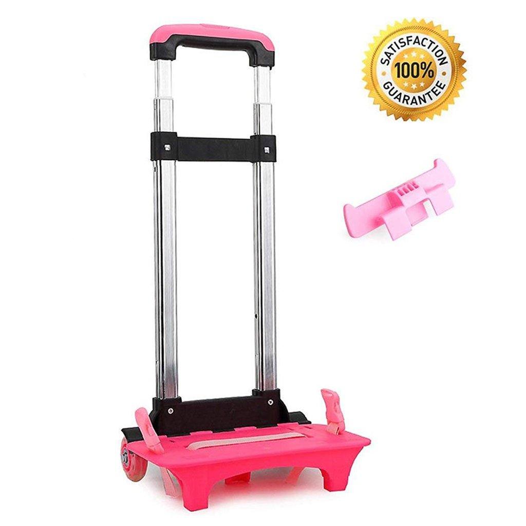 Rucksack Trolley - Rollwagen Roll Rädern für Kinder Kinder Schultaschen, Gepäckwagen Travel Trolley mit Schnallen Straps Folding (2 Wheels)