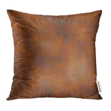 Amazon Com Golee Throw Pillow Cover Brown Rusty Metal Rust