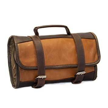 bb29c82960 Amazon.com   Riverton Leather Toiletry Bag Kit - Waxed Canvas ...