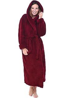 2b03009808 Alexander Del Rossa Womens Full Length Hooded Plush Fleece Robe