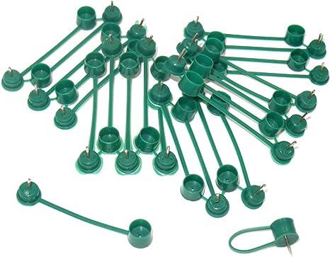 KINGLAKE - Clips de sujeción para Plantas (50 Unidades, sujeción para jardín, para Escalada, Soporte de Vid en la Valla de Pared)
