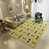 Geometry Home Rugs 63 X 91 Inch - MeMoreCool Various Patterns No Fading Anti-slipping Simple Style Living Room Tea Table Carpets