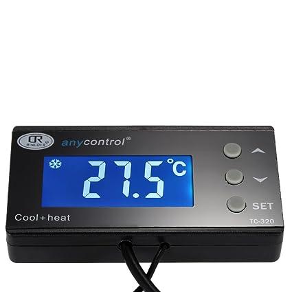 Anself Regulador de temperatura digital para acuario pecera de LCD pantalla retroiluminación termostato para tanque de