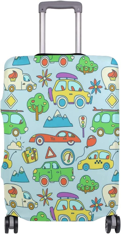 GIOVANIOR Cartoon Cars Traffic Lights Luggage Cover Suitcase Protector Carry On Covers