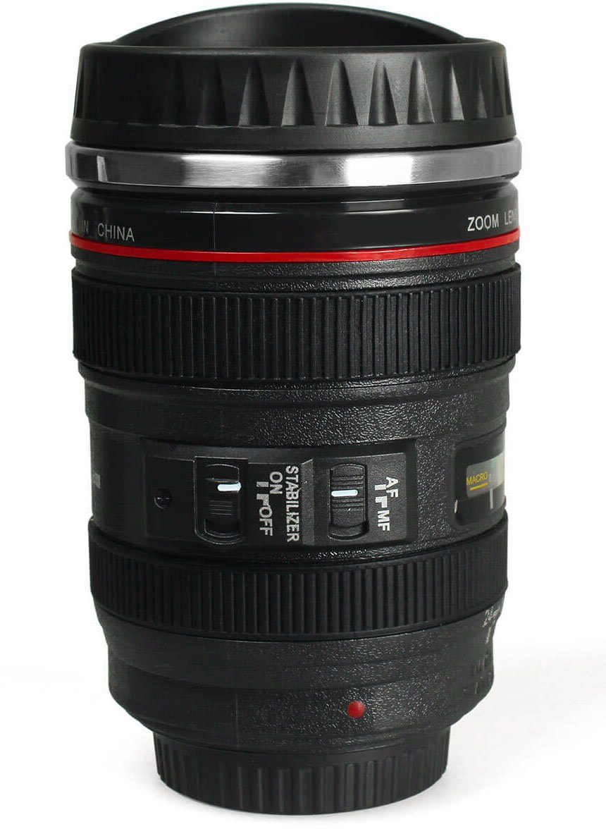 Gpct Canon Lens Coffee Mug Travel Size Thermos Cup W
