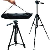 Tripé Universal Profissional Portátil Câmeras E Celular 1,14m MTG-3011 - Tomate PRETO
