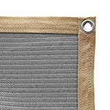 Shatex 90% Shade Fabric Sun Shade Cloth with Grommets for Pergola Cover Canopy 8ft x 12ft, Grey