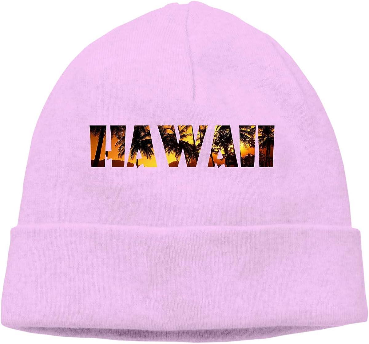 GDSG5/&4 Hawaii Text Men Women Stretchy /& Soft Surf Beanie Skull Cap