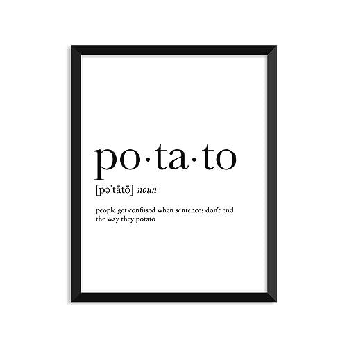 Potato definition *, college dorm room decor, dorm wall art, dictionary art print, office decor, minimalist poster, funny definition print, definition poster, inspirational quotes