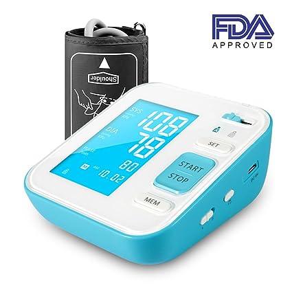 Perbeat Pulsómetro digital con brazo superior y monitor de presión arterial, para uso doméstico con