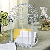 White Birdcage Wedding Gift Card Holder Wishing Well