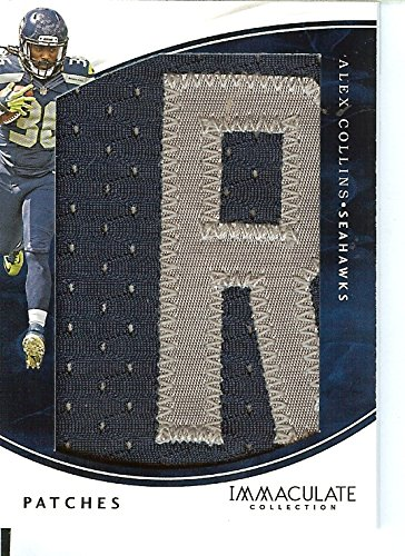 Football NFL 2016 Immaculate Patches #61 Alex Collins MEM 5/10 Seahawks by Immaculate