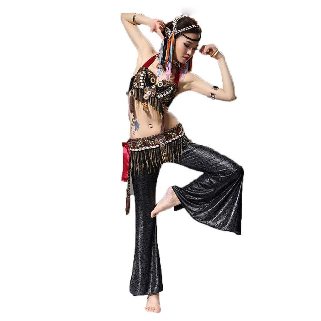 【メーカー直送】 大人の女性のベリーダンスの種族の風衣装のパフォーマンスセット B07PHFCGCS B07PHFCGCS ブラック M|ブラック M|ブラック ブラック M, GOLF J-WINGS:9d1b2dfc --- a0267596.xsph.ru
