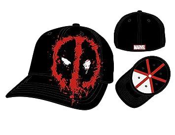 Marvel Deadpool Splattered Symbol Flex Fit Gorra De Béisbol: Amazon.es: Juguetes y juegos