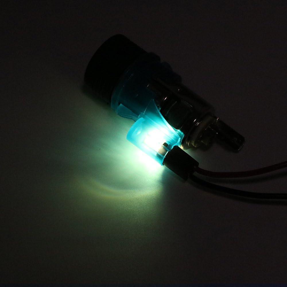 color azul Enchufe para encendedor de motocicleta con luz LED