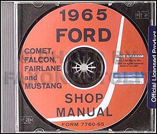 SHOP MANUAL SERVICE REPAIR 1965 FORD BOOK MUSTANG FAIRLANE FALCON RACHERO COMET