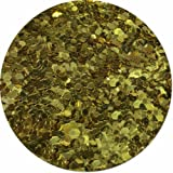 Glitter My World! Colossal Flake Craft Glitter: 1 lb Jar Gold Bullion
