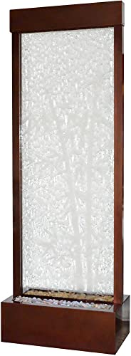 BluWorld Towering 8 Dark Copper Gardenfall with Bamboo Etched Clear Glass