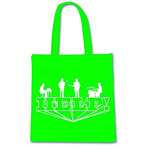 The Beatles Tote Bag Eco Shopper Bag Help Band Logo new Official White One Size