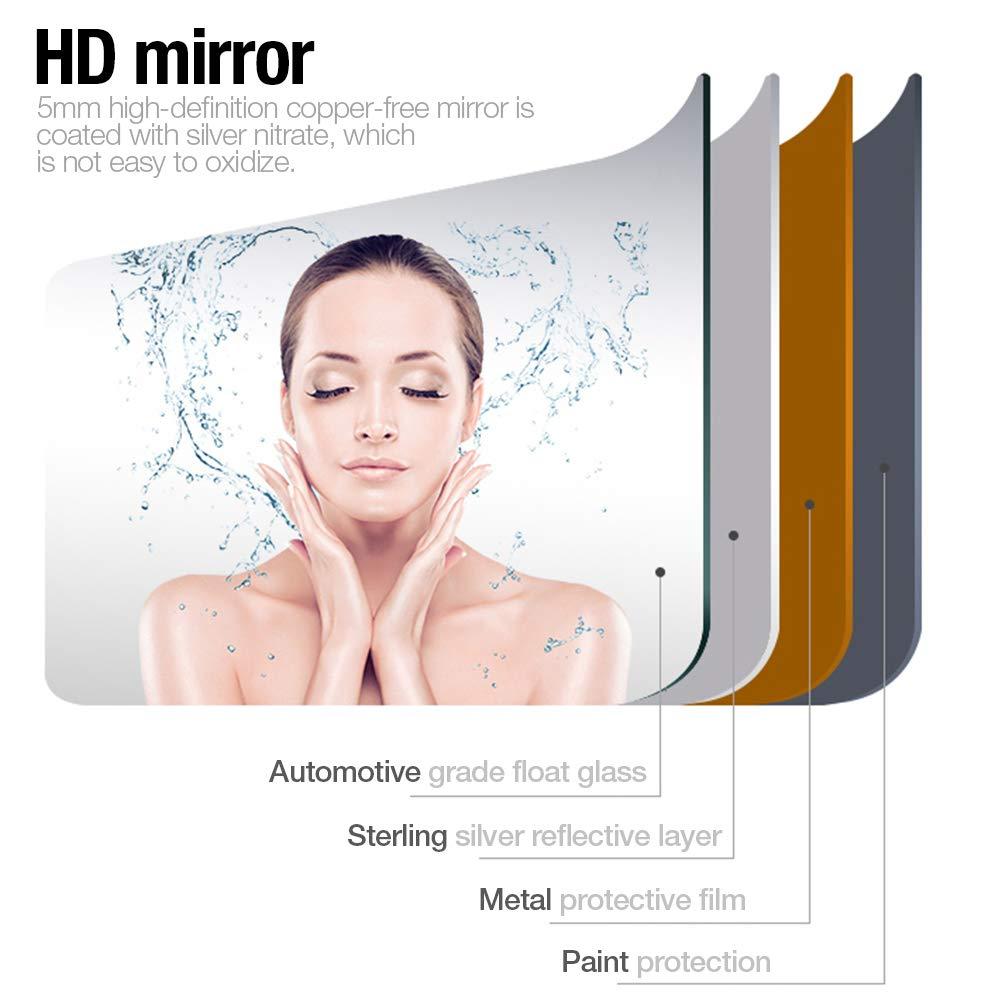 anti-bu/ée,nouveau produ Miroir rond /à LED,Miroir de salle de bain,Miroir LED 60 * 60cm 24W Blanc froid
