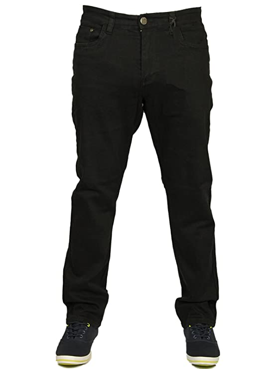 1950s Men's Clothing Kam Mens Latest King Size Stretch Chino Jeans Straight Leg in Black and Grey Colours Size 42-60 £25.74 AT vintagedancer.com