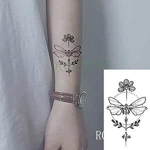 Handaxian 5pcs Etiqueta Lotus Tatuaje T muñeca del girocompás del ...