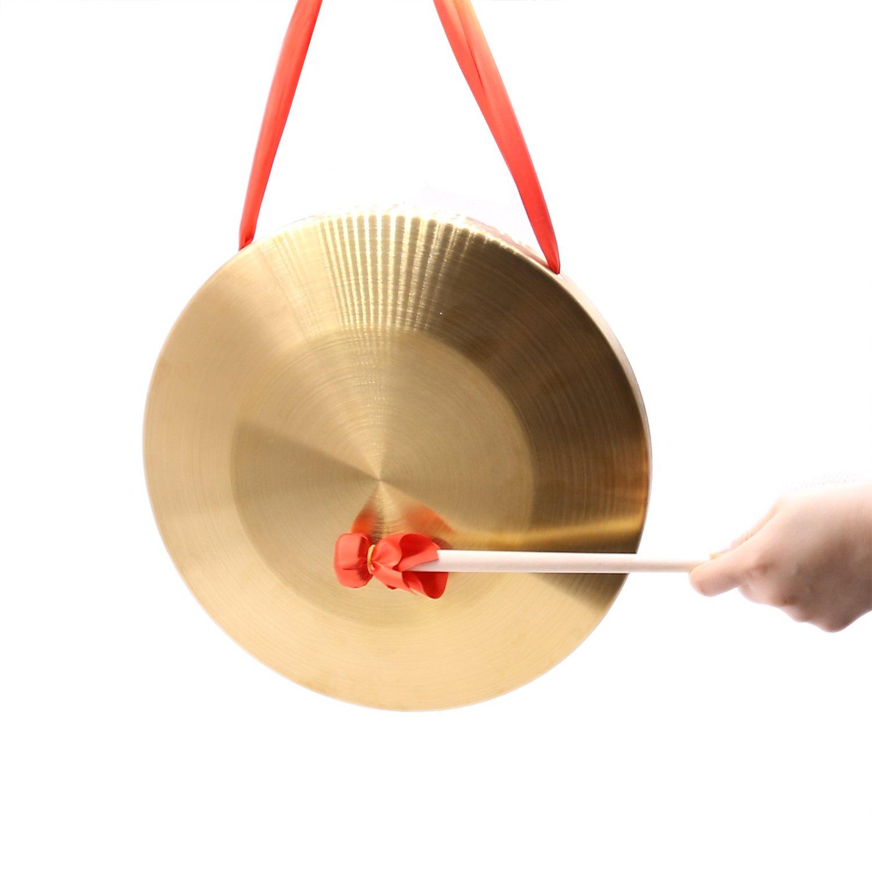 Bronze Chau Gongs, Frideko Chinese Copper Feng Gong with Beater Diameter 12.6 Inches by Frideko