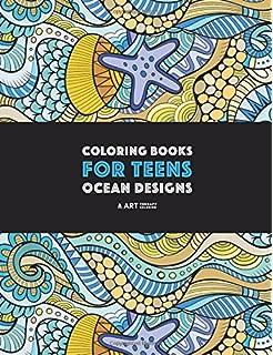 Coloring Books For Teens Ocean Designs Zendoodle Sharks Sea Horses Fish