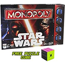 Monopoly Star Wars with Free 80s Style Neon Brybelly Puzzle Cube