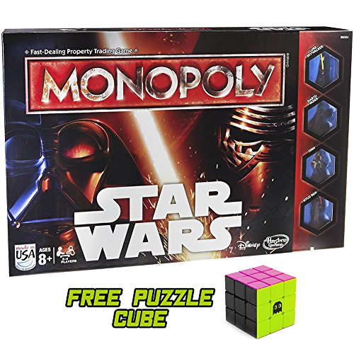 (Monopoly Star Wars with Free 80s Style Neon Brybelly Puzzle Cube)