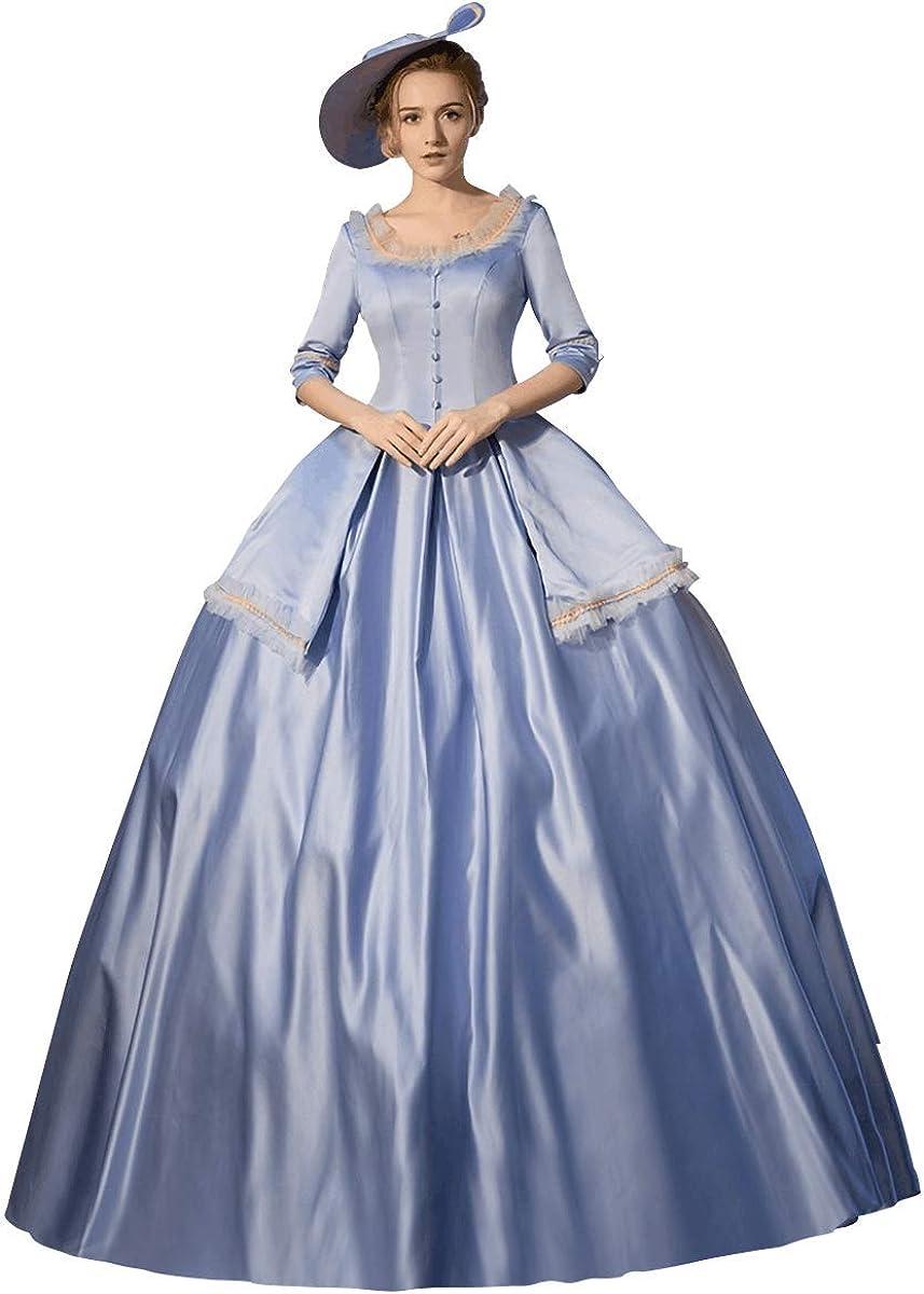 KEMAO Robe de Bal Haut de Gamme pour Femme Style Baroque Marie Antoinette du 18/ème si/ècle