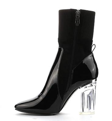 Womens Feel-1 Translucent Lucite Heel Booties