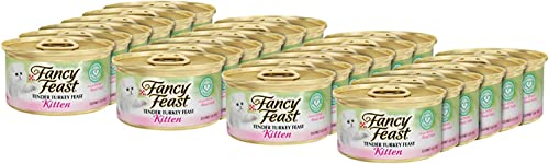 Purina Fancy Feast Tender Chicken Feast Wet Kitten Food 24 3 oz. Cans, Turkey Feast