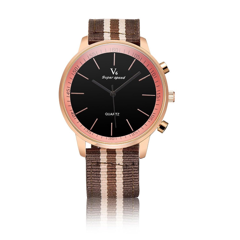 v6メンズファッション12-hourダイヤルアラビア数字デザインクオーツ腕時計 3# B072F2NP723#
