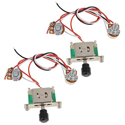 amazon com kmise prewired guitar wiring harness 250k pots 3 wayamazon com kmise prewired guitar wiring harness 250k pots 3 way switch for fender tele replacement pack of 2 musical instruments