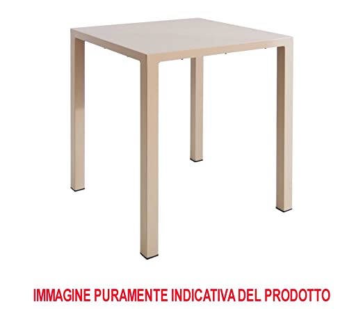 Tavoli Da Giardino Emu.Emu Tavolo Nova 80x80 Bianco Da Esterno Giardino Bar Amazon It