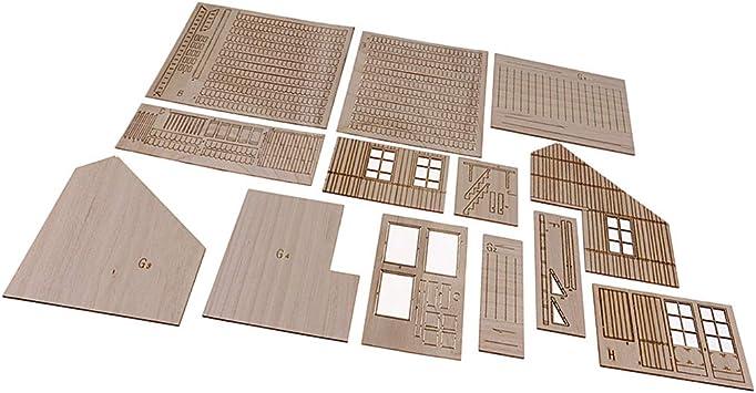 Homyl Escala 1:35 Modelo de Casa de Madera para Diorama ...