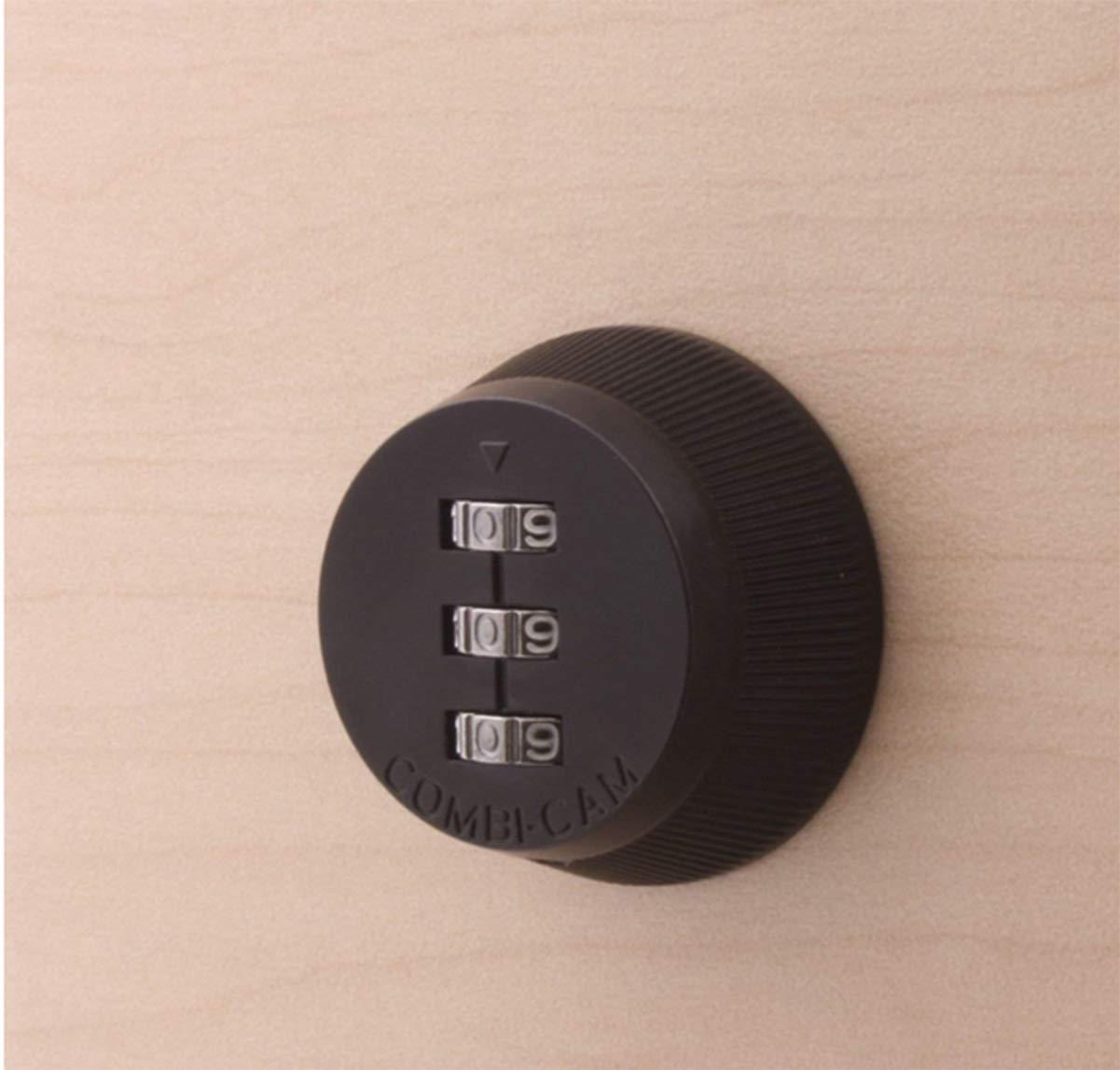 Plateado Liuer 3 C/ódigo Digital Cerradura de combinacion de codigo,Cerradura de combinacion de codigo de aleacion sin llave de caja de correo del poste y de armario,1pcs