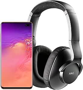 Samsung Galaxy S10+ Plus Factory Unlocked Phone with 128GB (U.S. Warranty), Flamingo Pink - SM-G975UZIAXAA w/AKG N700NC M2 Headphones