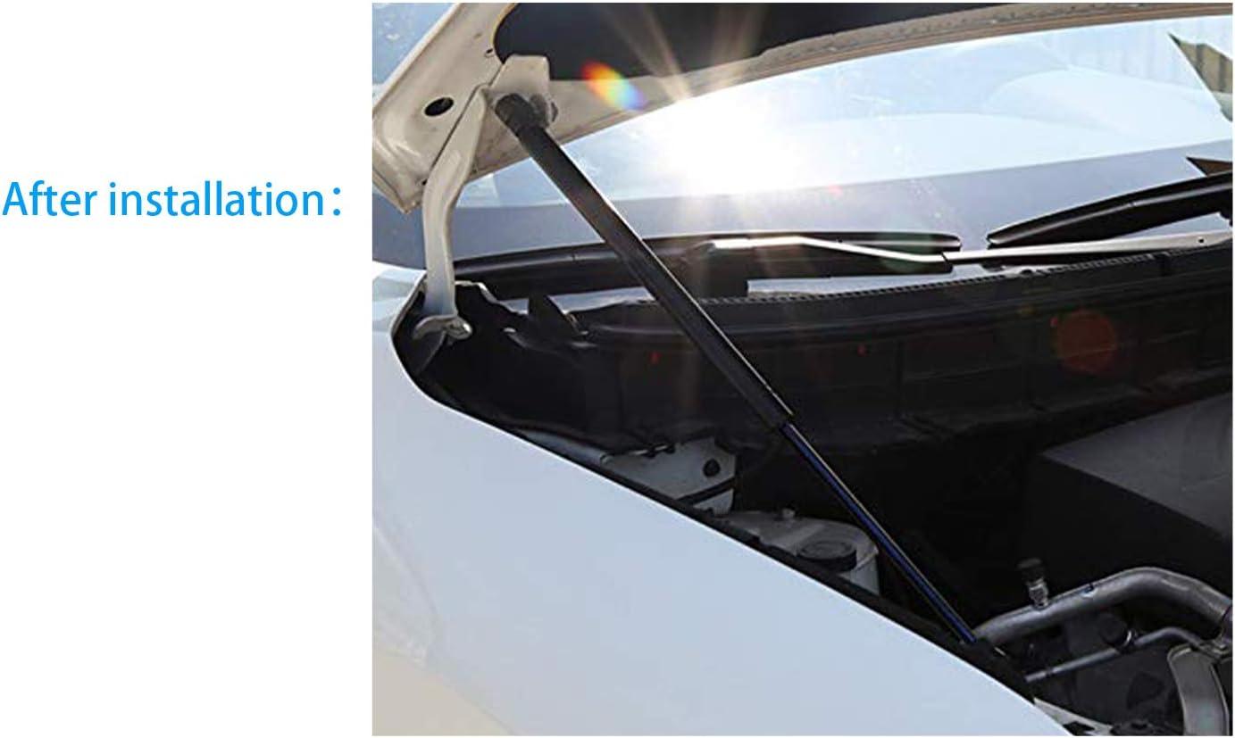 RUIYA Qashqai J11 Motorhaubenst/ütze Motorhauben Gasfeder Schwarze Gasdruckfeder Motorhaube Aus ABS-Kunststoff und starker Zinklegierung【2 St/ück】