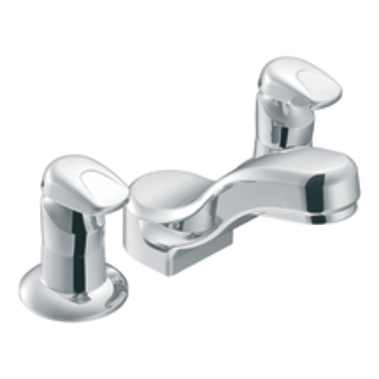 Moen Commercial MPress Widespread Metering Lavatory Faucet - Moen commercial bathroom faucets