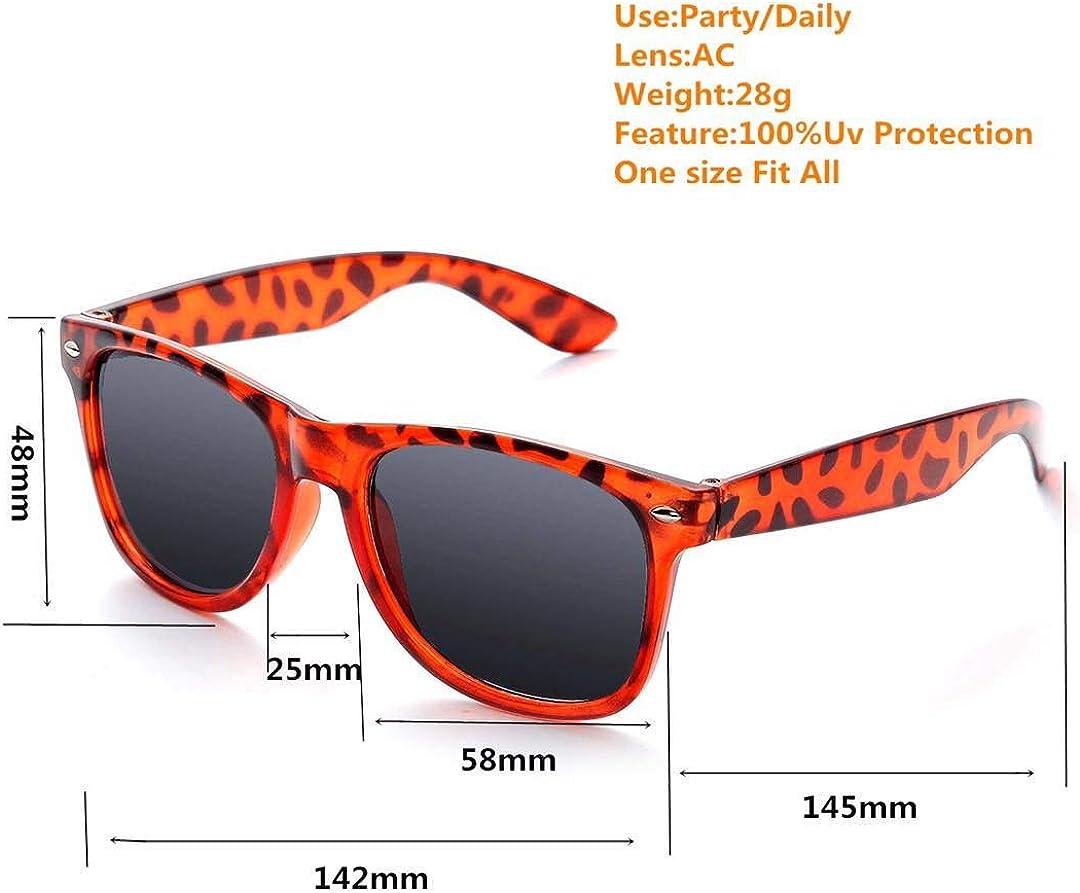 Neon Colors Party Sunglasses,10 Pack Retro Sunglasses for Party Favors Supplies
